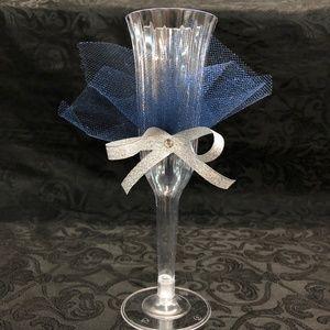 Navy Mis XV Anos Cups 14 pc plastic 2 pc glass